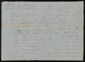 Primary view of object titled '[Subpoena for an Individual to Appear before the Mayor]'.
