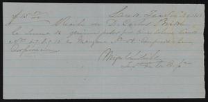 [Receipt #8, 1858]