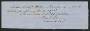 [Receipt #15, 1860]