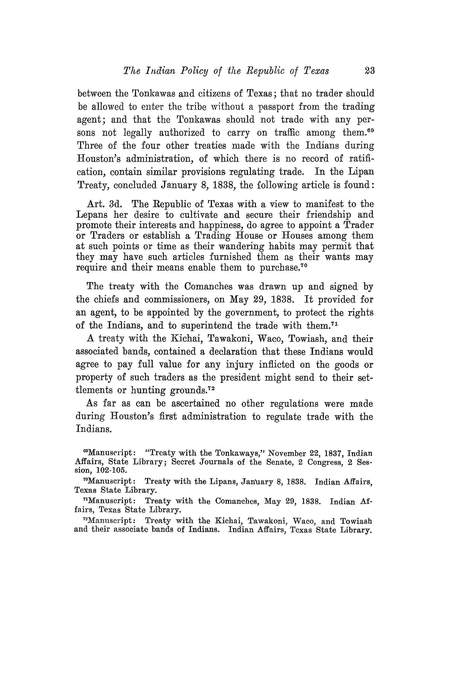The Southwestern Historical Quarterly, Volume 26, July 1922 - April, 1923                                                                                                      23