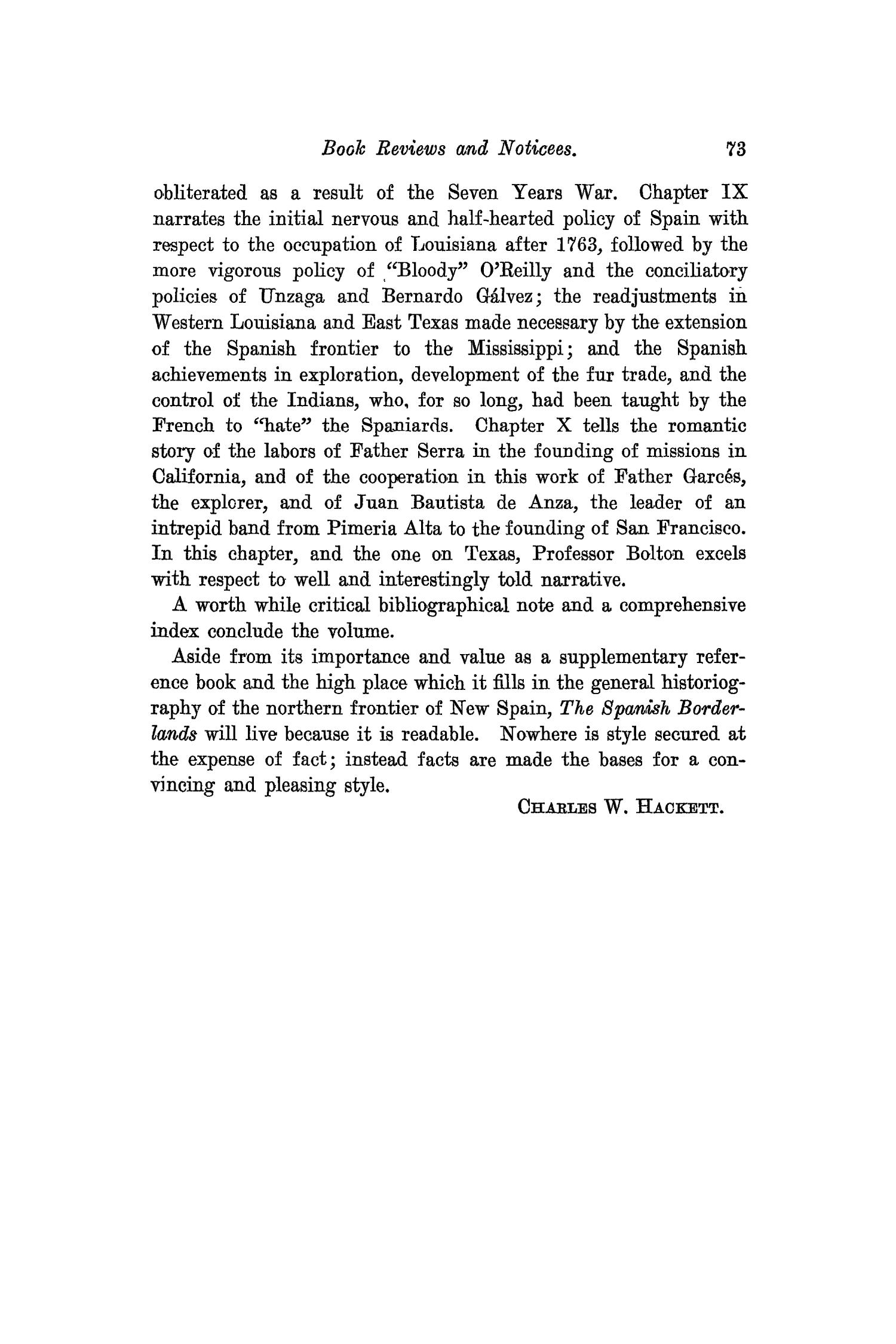The Southwestern Historical Quarterly, Volume 26, July 1922 - April, 1923                                                                                                      73