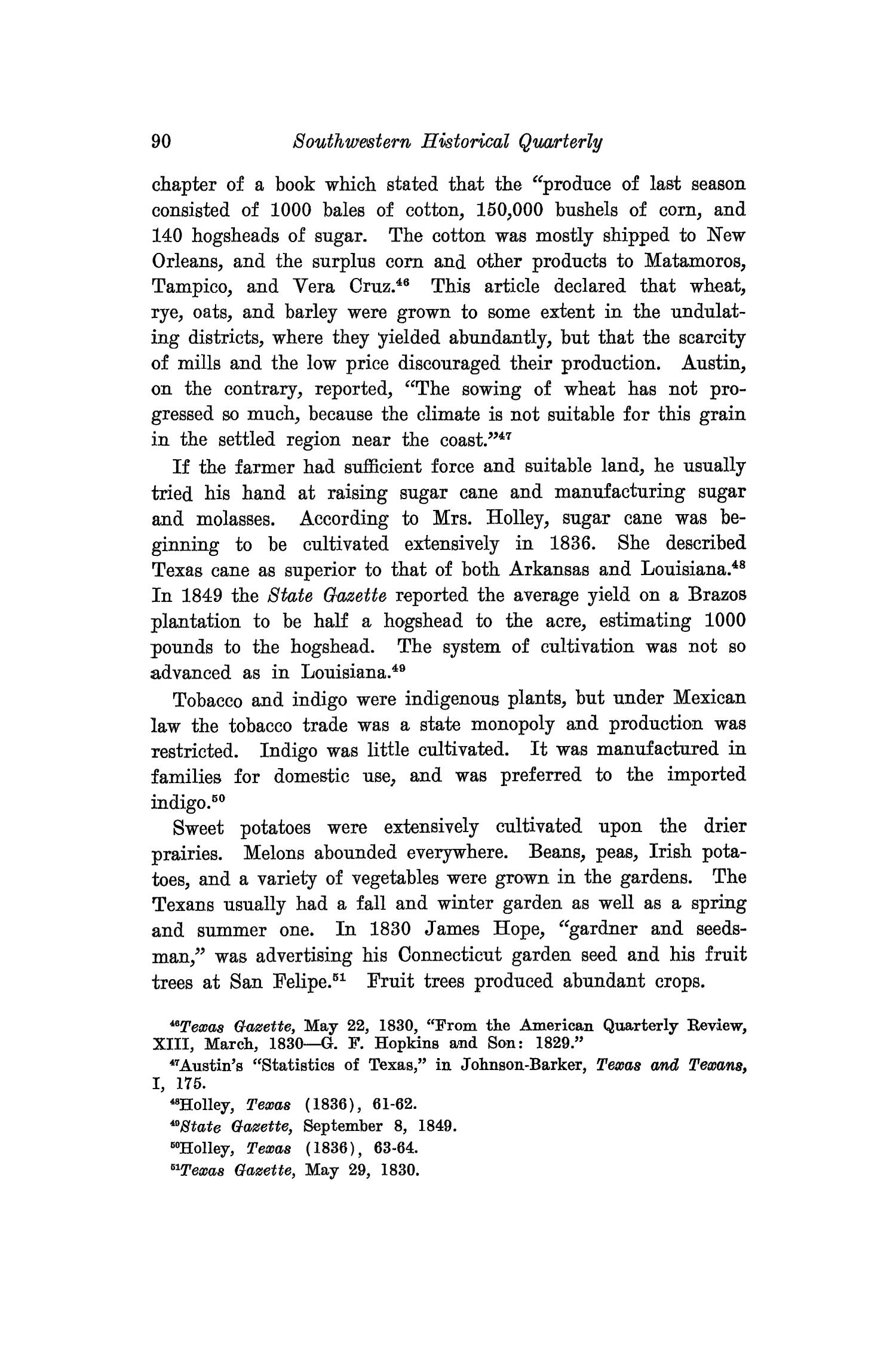 The Southwestern Historical Quarterly, Volume 26, July 1922 - April, 1923                                                                                                      90