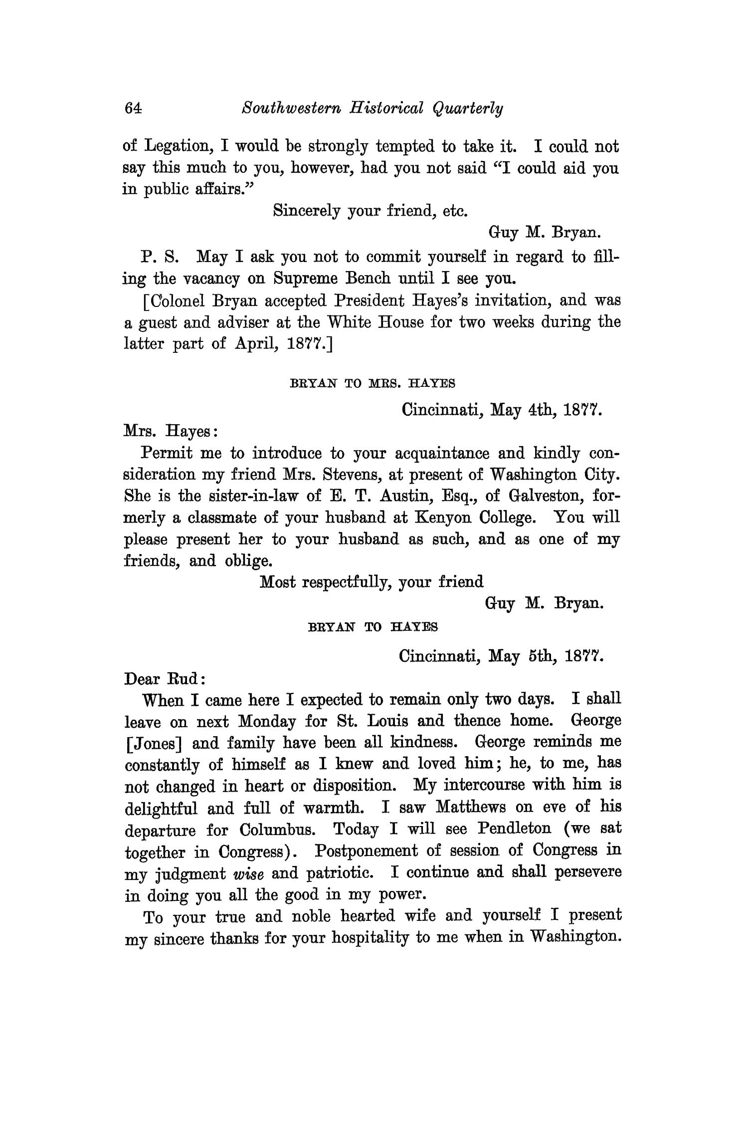The Southwestern Historical Quarterly, Volume 27, July 1923 - April, 1924                                                                                                      64
