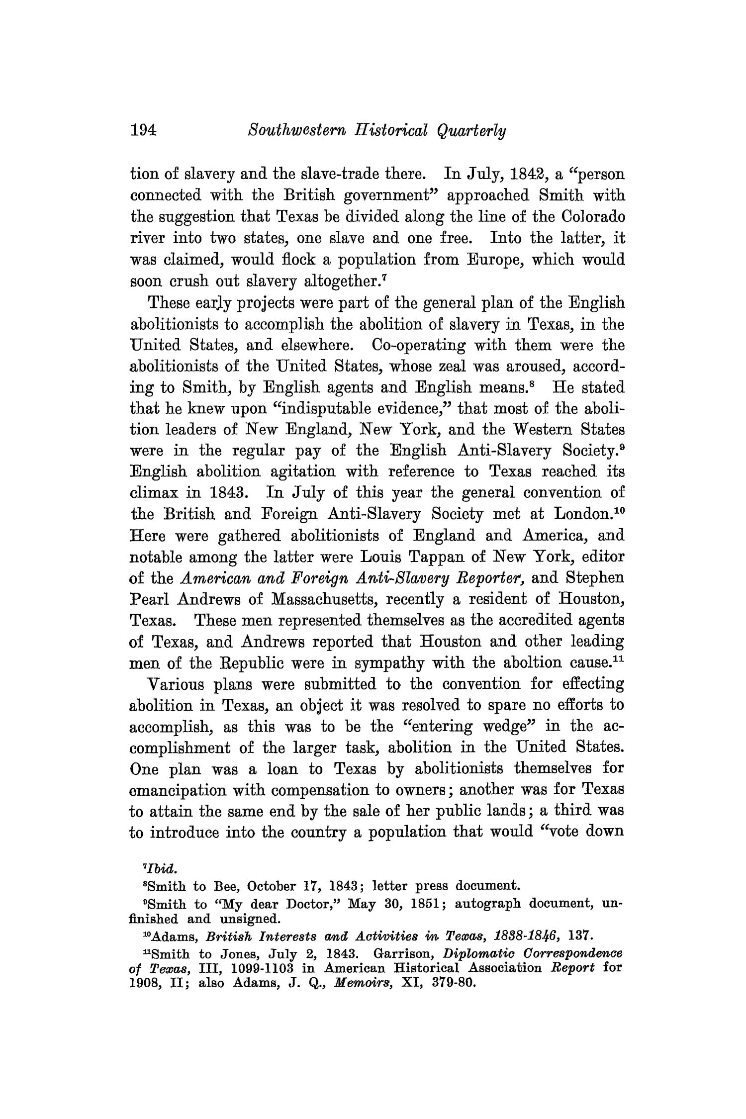 The Southwestern Historical Quarterly, Volume 32, July 1928 - April, 1929                                                                                                      194