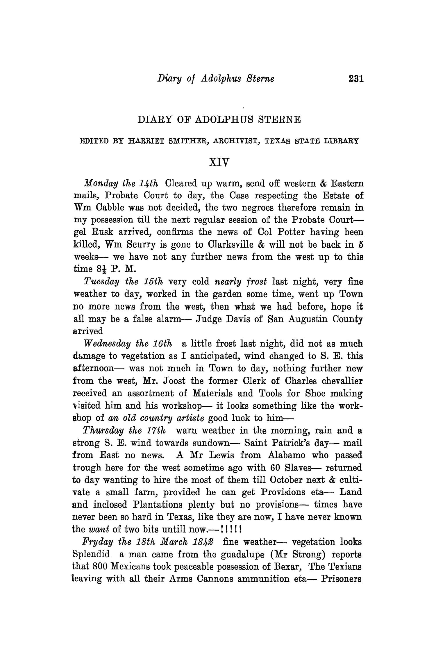 The Southwestern Historical Quarterly, Volume 33, July 1929 - April, 1930                                                                                                      231