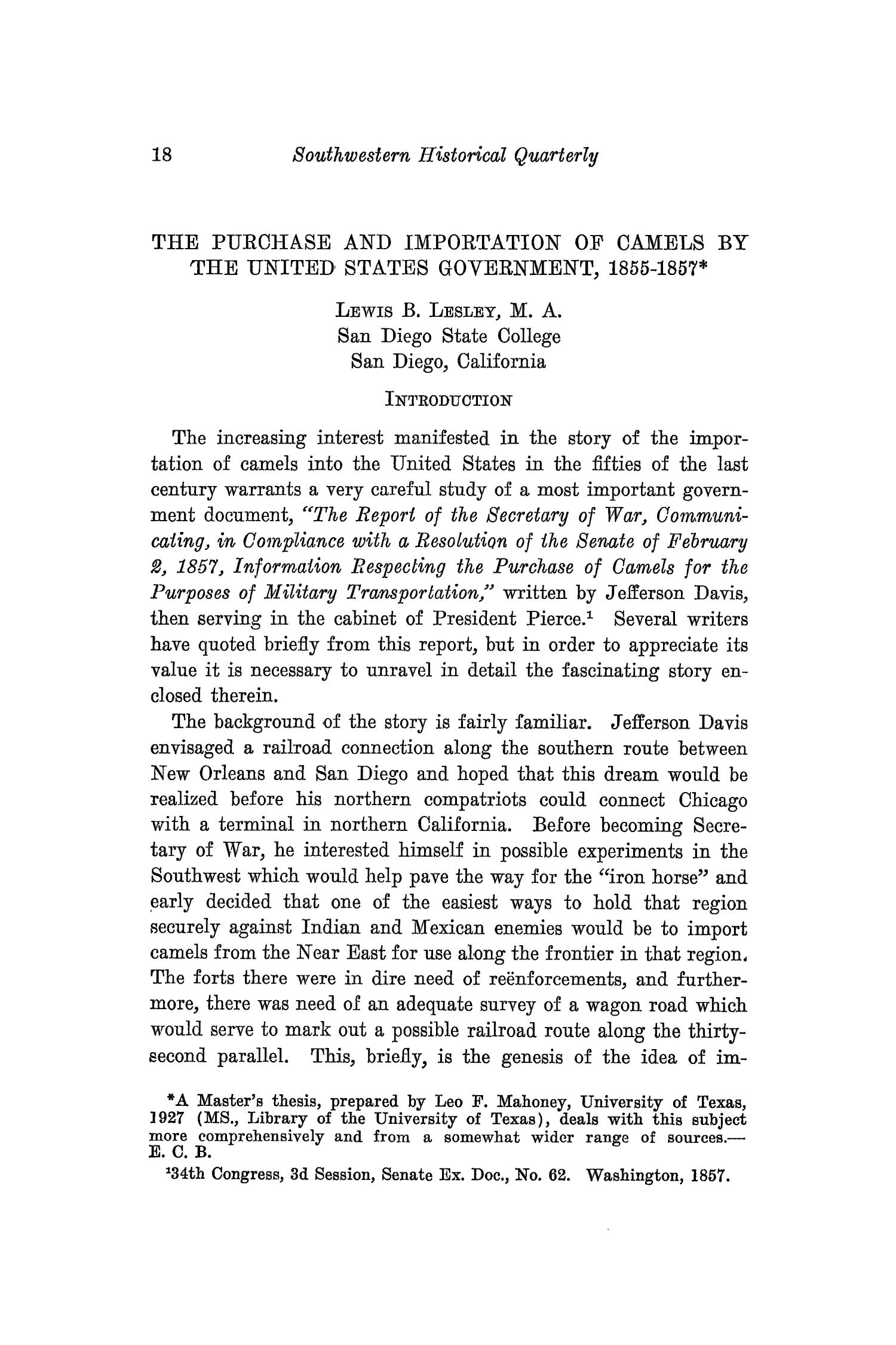 The Southwestern Historical Quarterly, Volume 33, July 1929 - April, 1930                                                                                                      18
