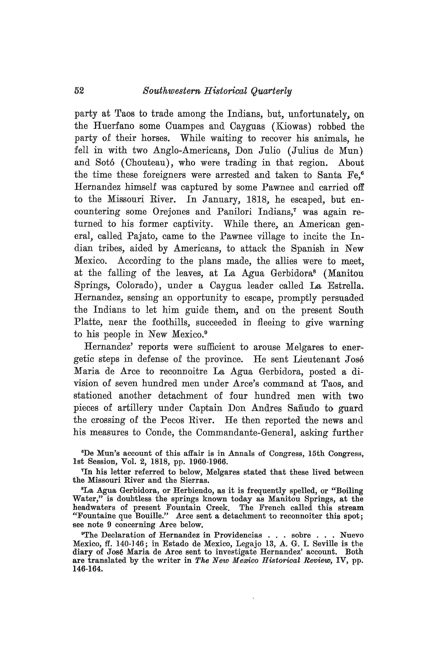The Southwestern Historical Quarterly, Volume 33, July 1929 - April, 1930                                                                                                      52