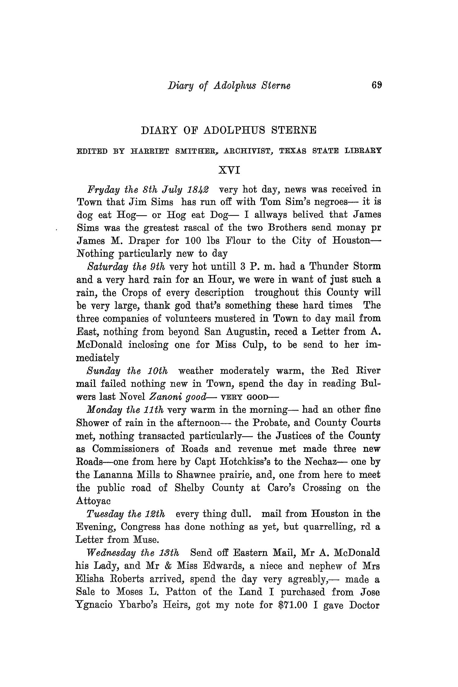 The Southwestern Historical Quarterly, Volume 34, July 1930 - April, 1931                                                                                                      69
