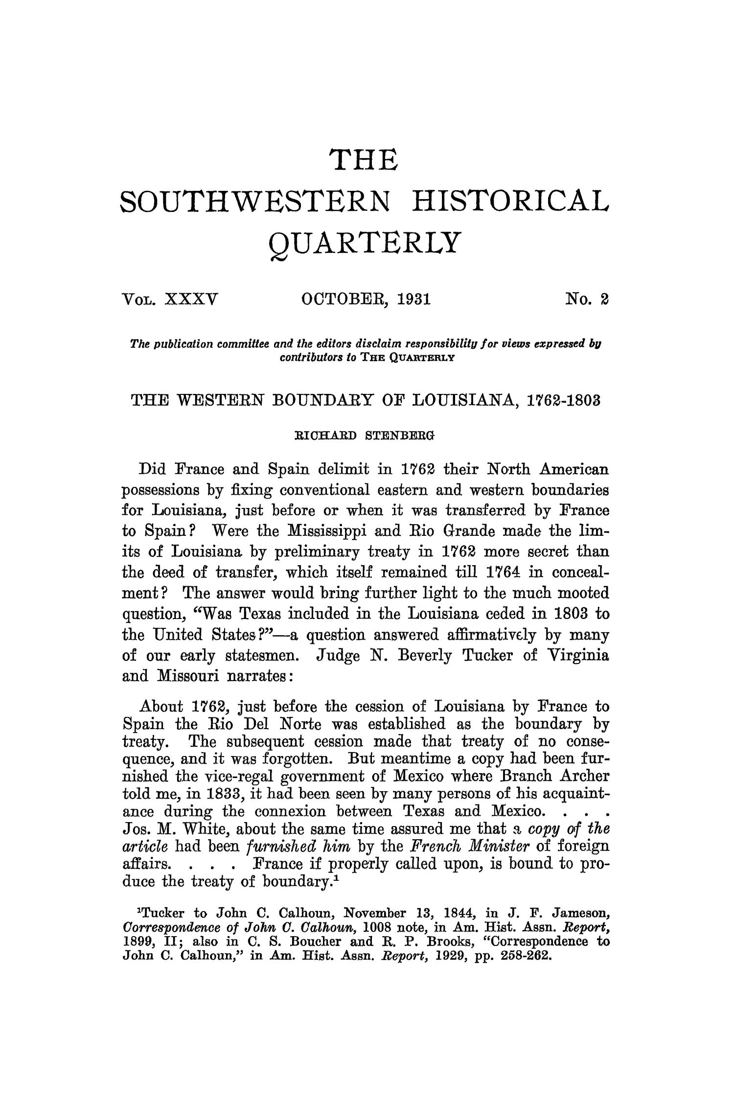 The Southwestern Historical Quarterly, Volume 35, July 1931 - April, 1932                                                                                                      95