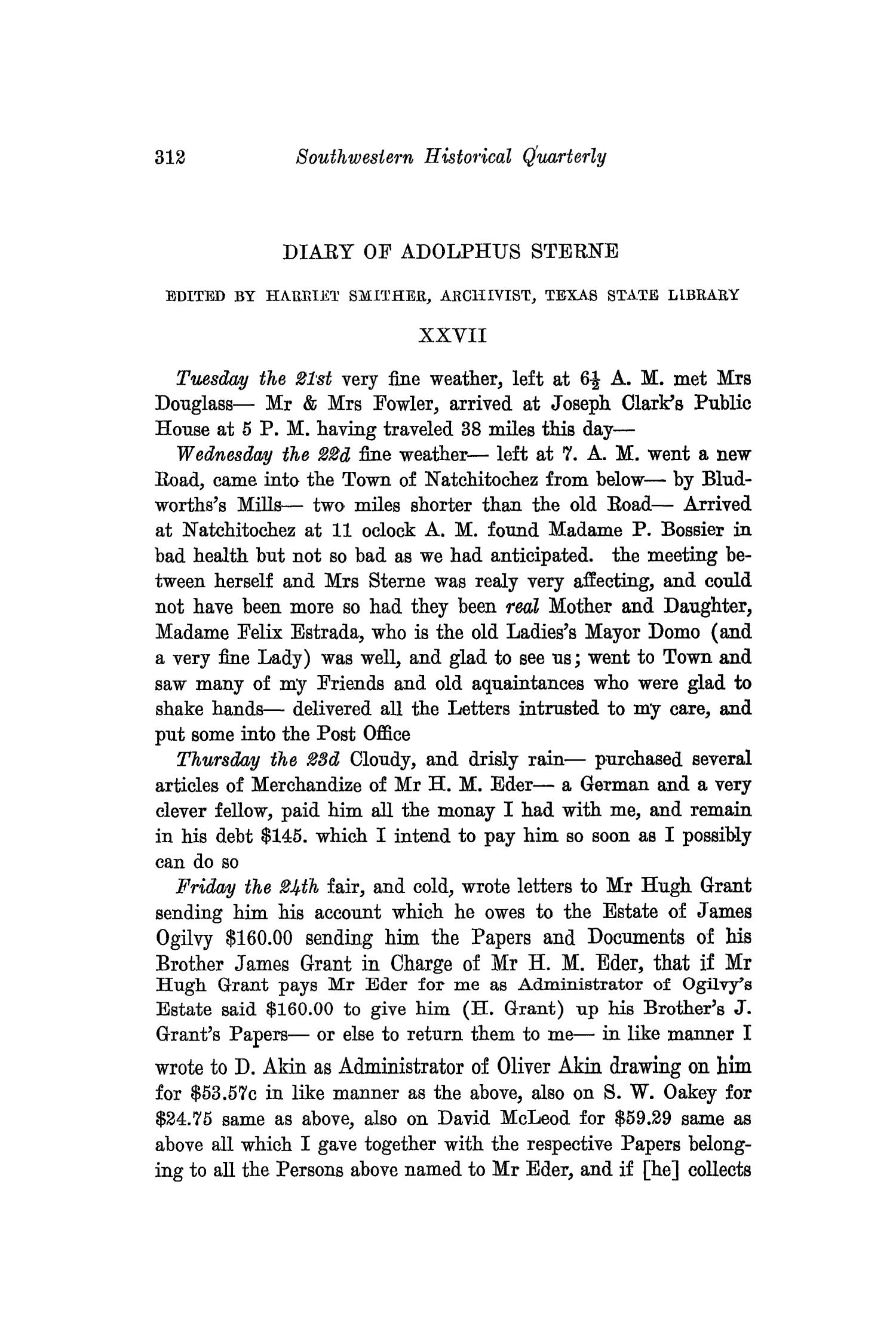 The Southwestern Historical Quarterly, Volume 36, July 1932 - April, 1933                                                                                                      312