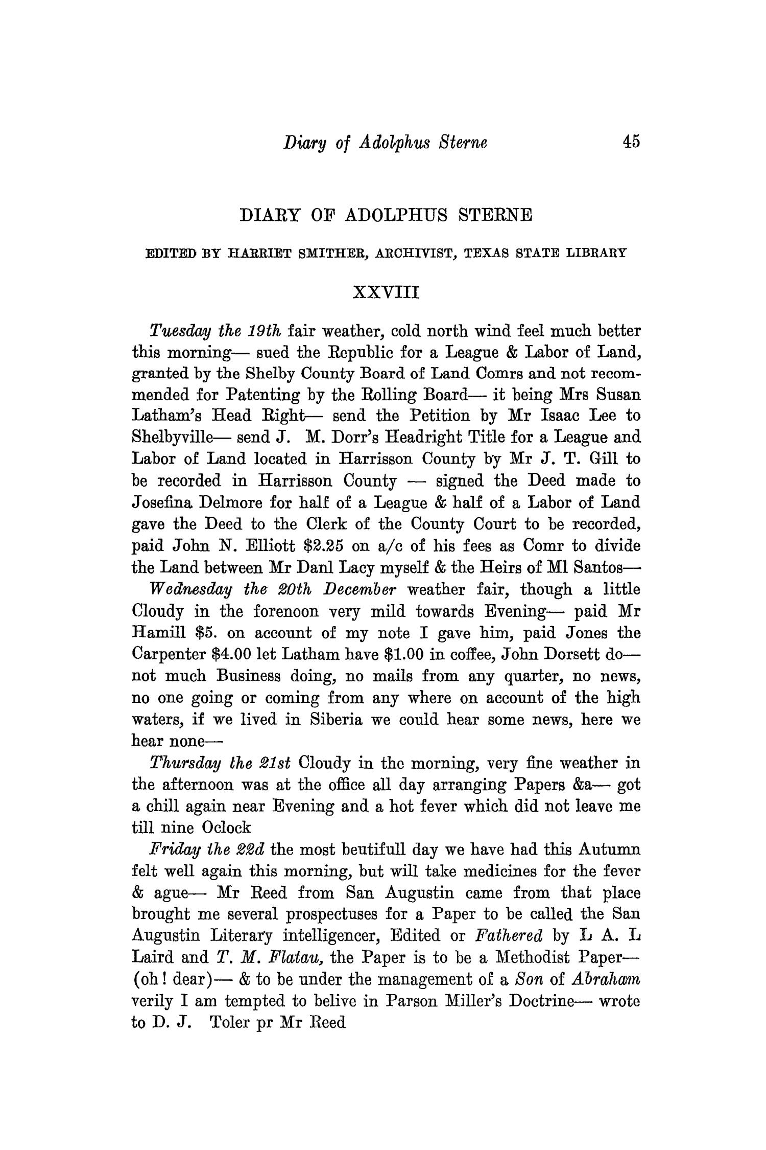 The Southwestern Historical Quarterly, Volume 37, July 1933 - April, 1934                                                                                                      45