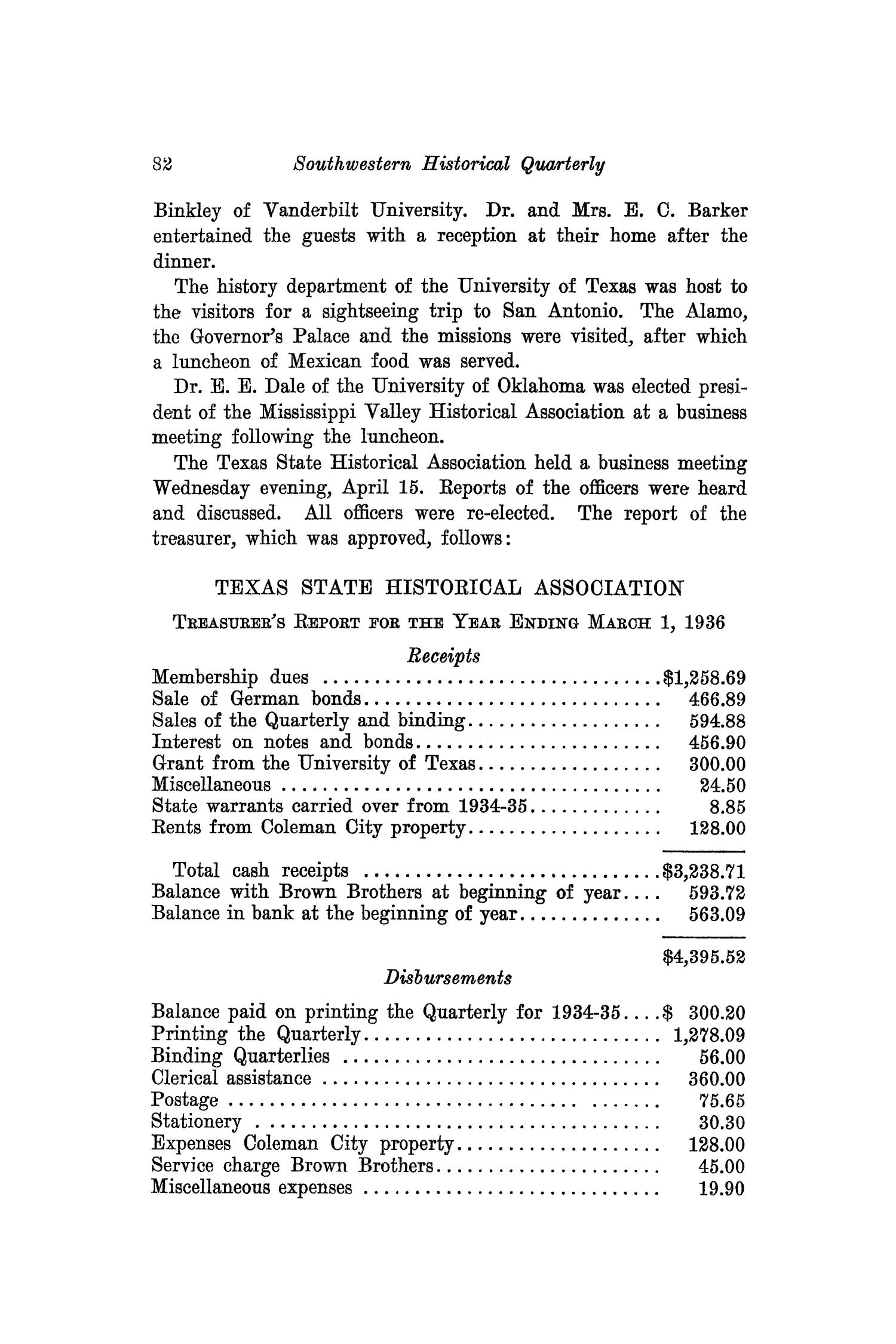 The Southwestern Historical Quarterly, Volume 40, July 1936 - April, 1937                                                                                                      82