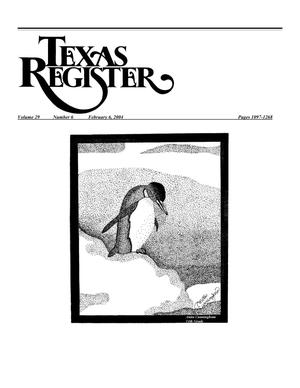 Primary view of object titled 'Texas Register, Volume 29, Number 6, Pages 1097-1268, February 06, 2004'.