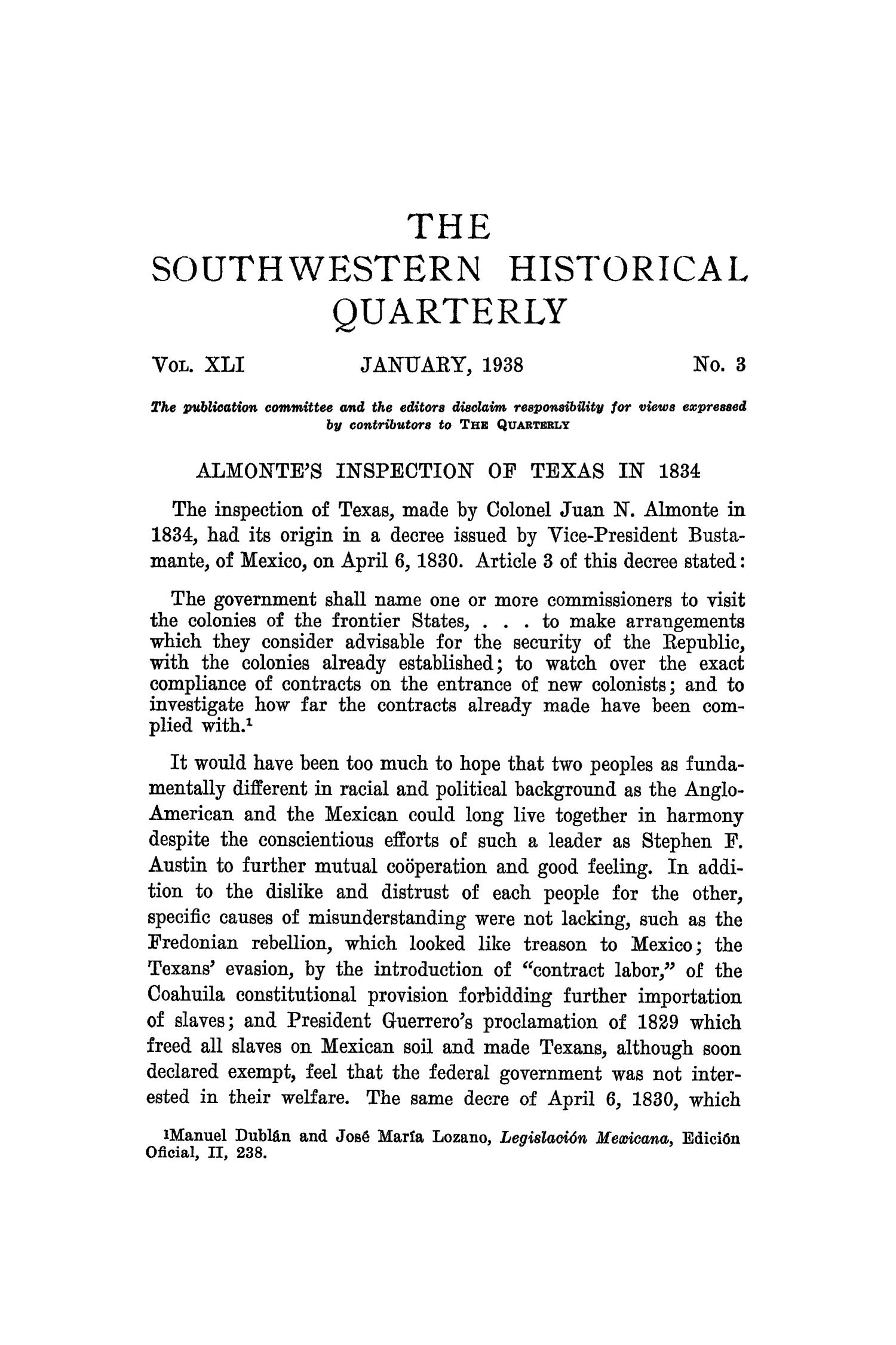 The Southwestern Historical Quarterly, Volume 41, July 1937 - April, 1938                                                                                                      195