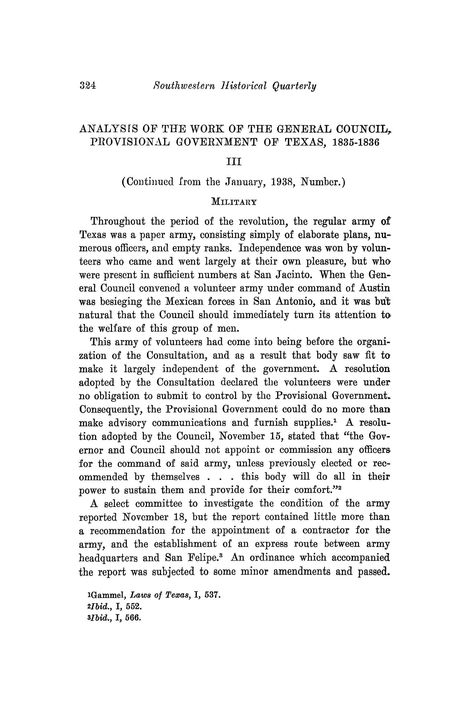 The Southwestern Historical Quarterly, Volume 41, July 1937 - April, 1938                                                                                                      324