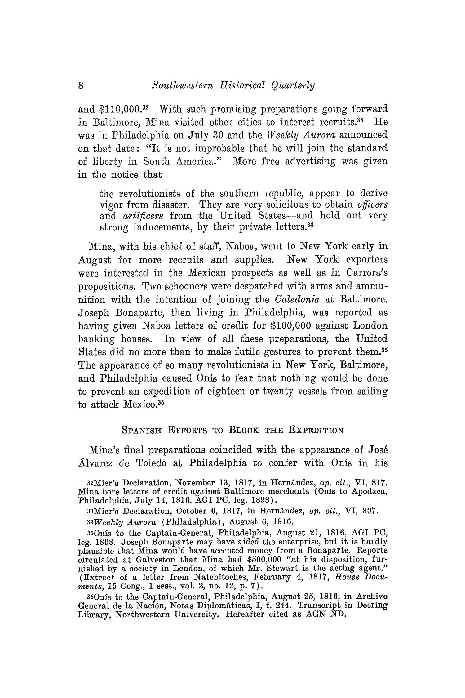The Southwestern Historical Quarterly, Volume 42, July 1938 - April, 1939                                                                                                      8