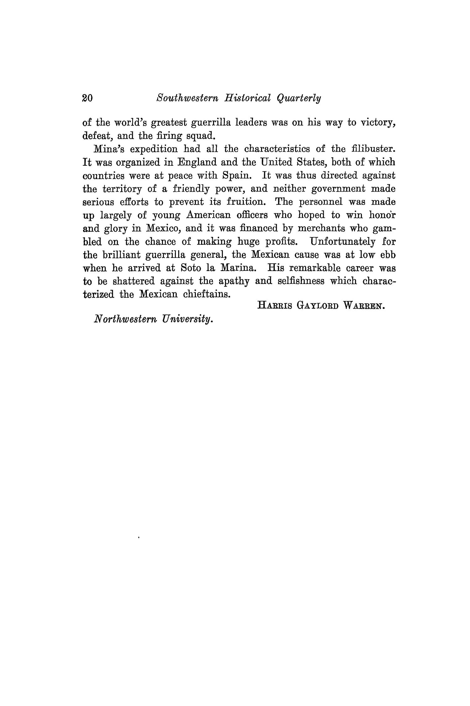The Southwestern Historical Quarterly, Volume 42, July 1938 - April, 1939                                                                                                      20