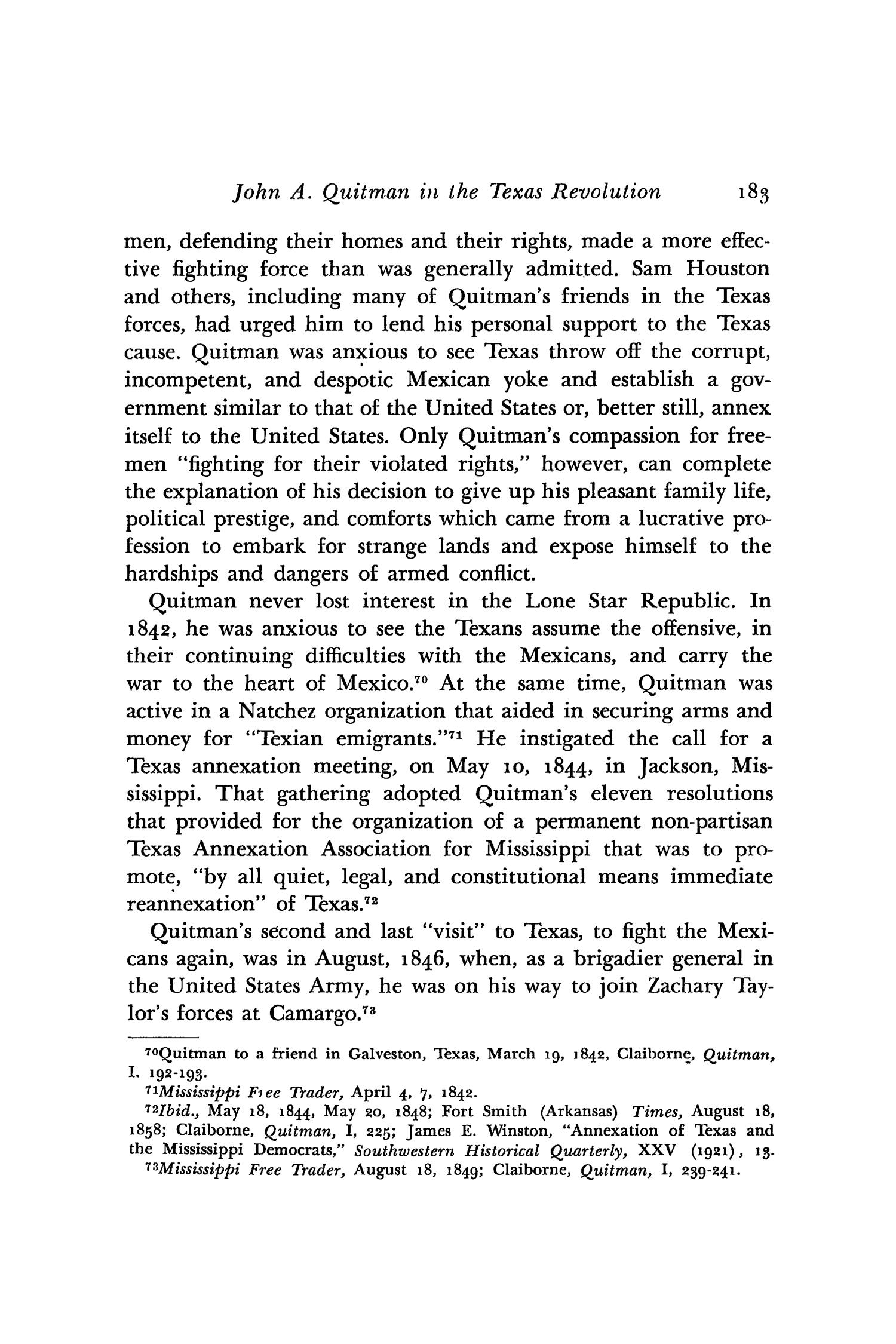 The Southwestern Historical Quarterly, Volume 52, July 1948 - April, 1949                                                                                                      183