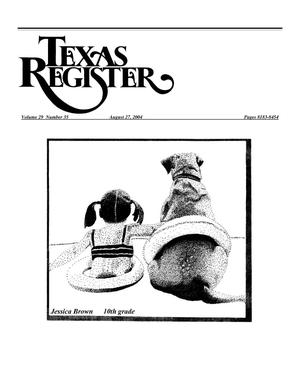 Primary view of object titled 'Texas Register, Volume 29, Number 35, Pages 8183-8454, August 27, 2004'.