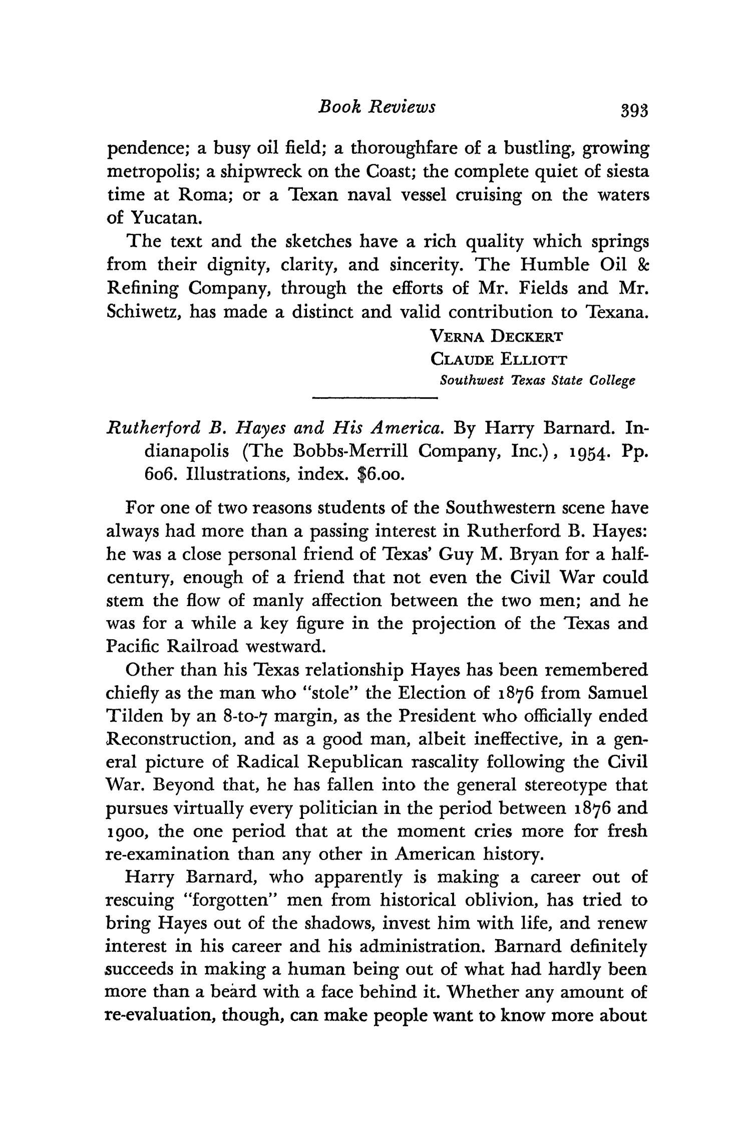 The Southwestern Historical Quarterly, Volume 59, July 1955 - April, 1956                                                                                                      393