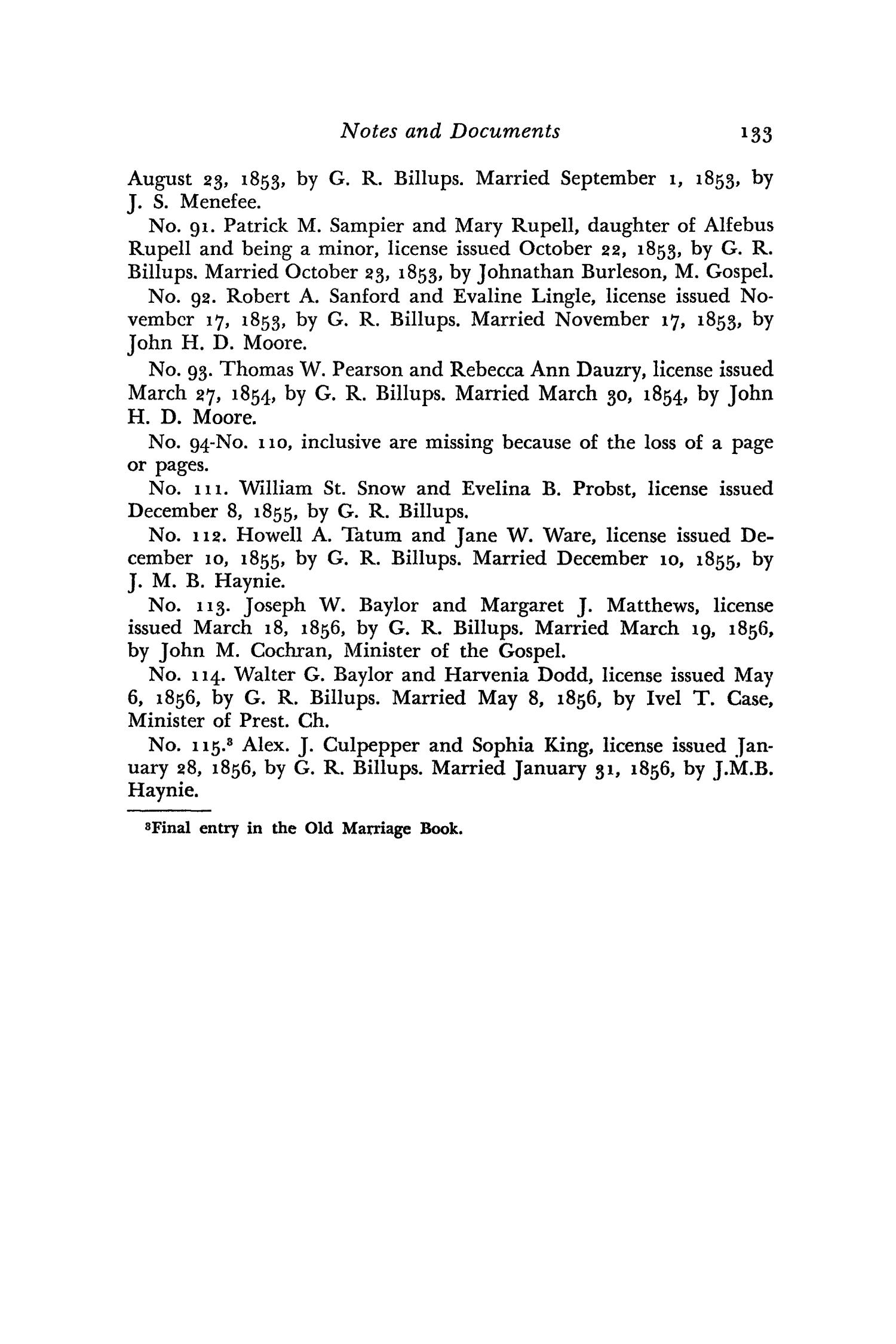 The Southwestern Historical Quarterly, Volume 60, July 1956 - April, 1957                                                                                                      133