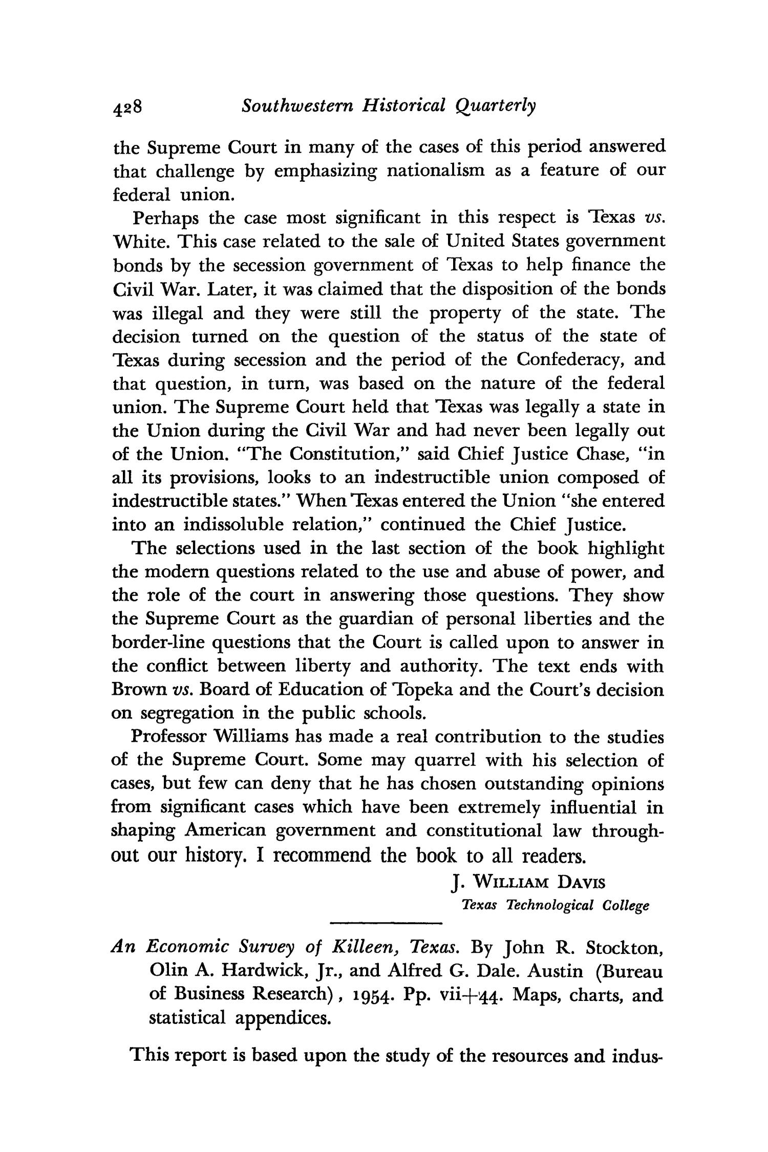 The Southwestern Historical Quarterly, Volume 60, July 1956 - April, 1957                                                                                                      428