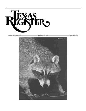Primary view of object titled 'Texas Register, Volume 35, Number 5, Pages 539-710, January 29, 2010'.