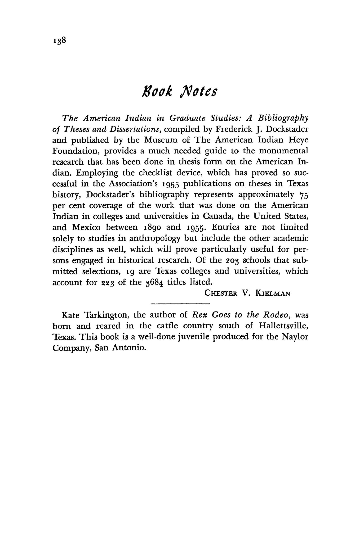 The Southwestern Historical Quarterly, Volume 62, July 1958 - April, 1959                                                                                                      138