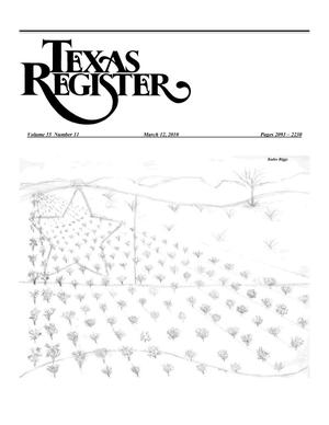 Primary view of object titled 'Texas Register, Volume 35, Number 11, Pages 2093-2230, March 12, 2010'.