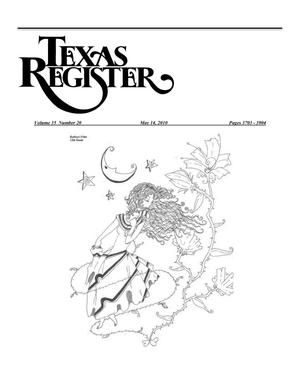 Primary view of object titled 'Texas Register, Volume 35, Number 20, Pages 3703-3904, May 14, 2010'.