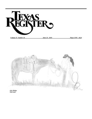 Primary view of object titled 'Texas Register, Volume 35, Number 26, Pages 5395-5624, June 25, 2010'.