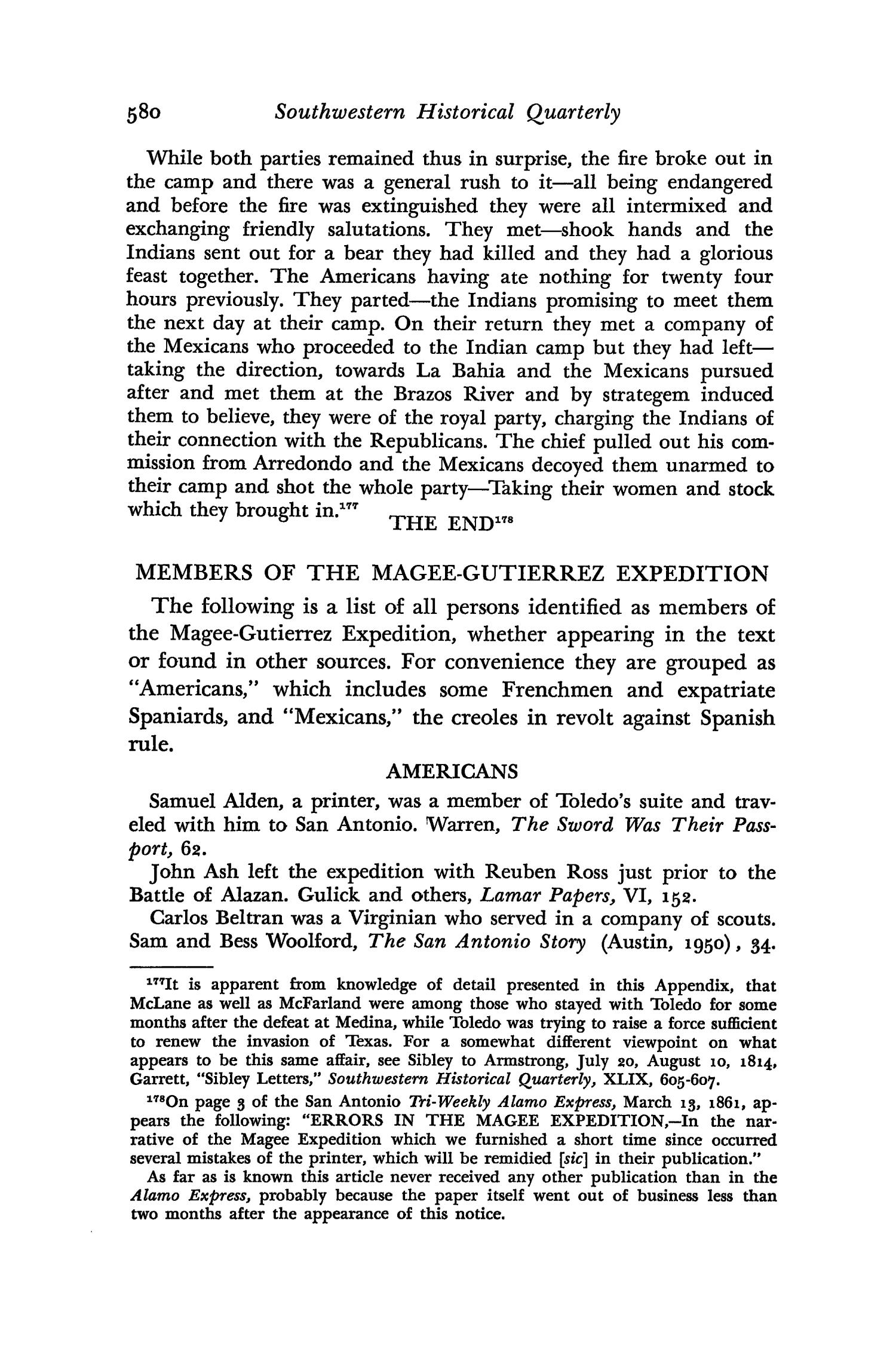 The Southwestern Historical Quarterly, Volume 66, July 1962 - April, 1963                                                                                                      580