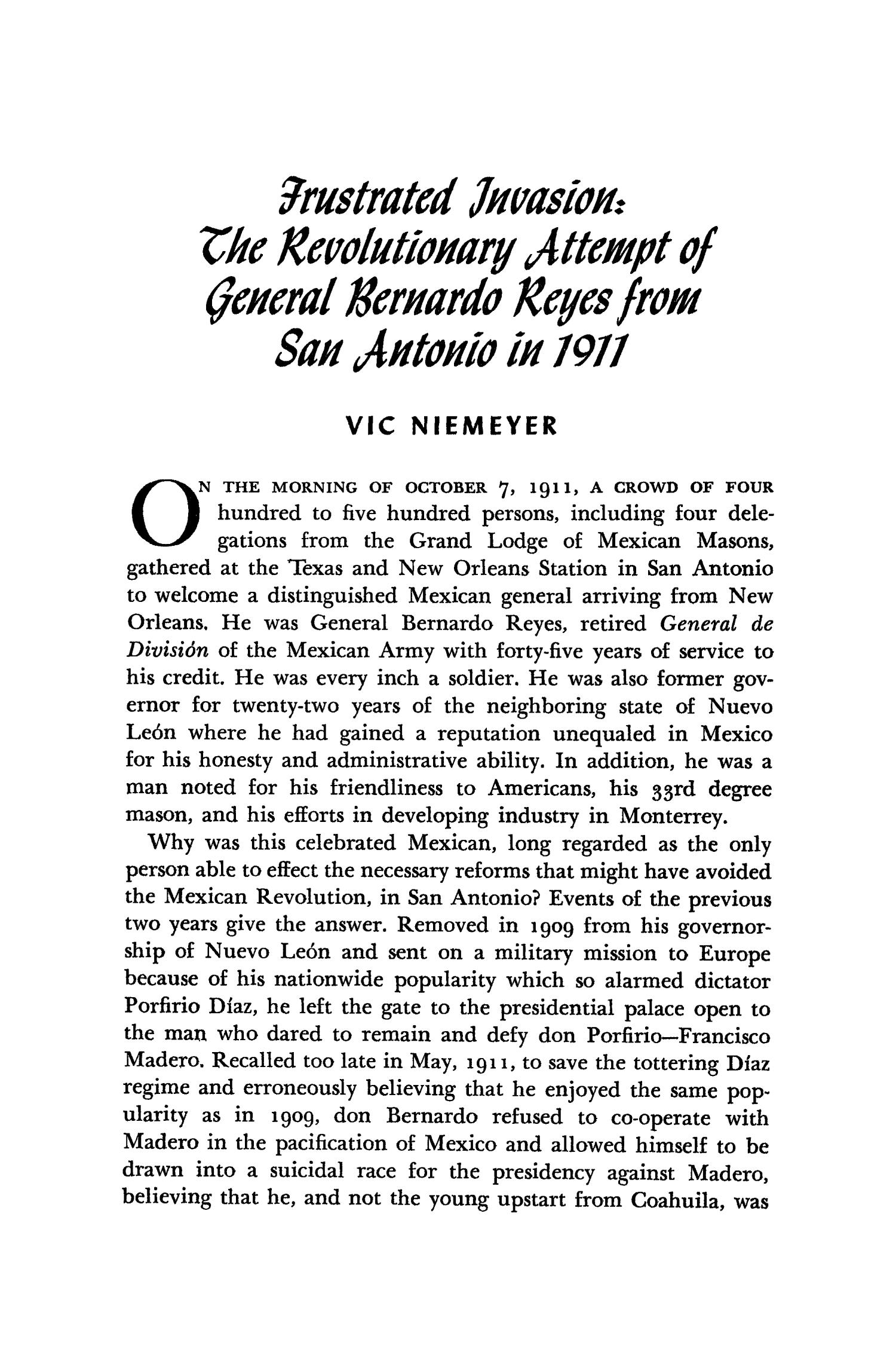 The Southwestern Historical Quarterly, Volume 67, July 1963 - April, 1964                                                                                                      213