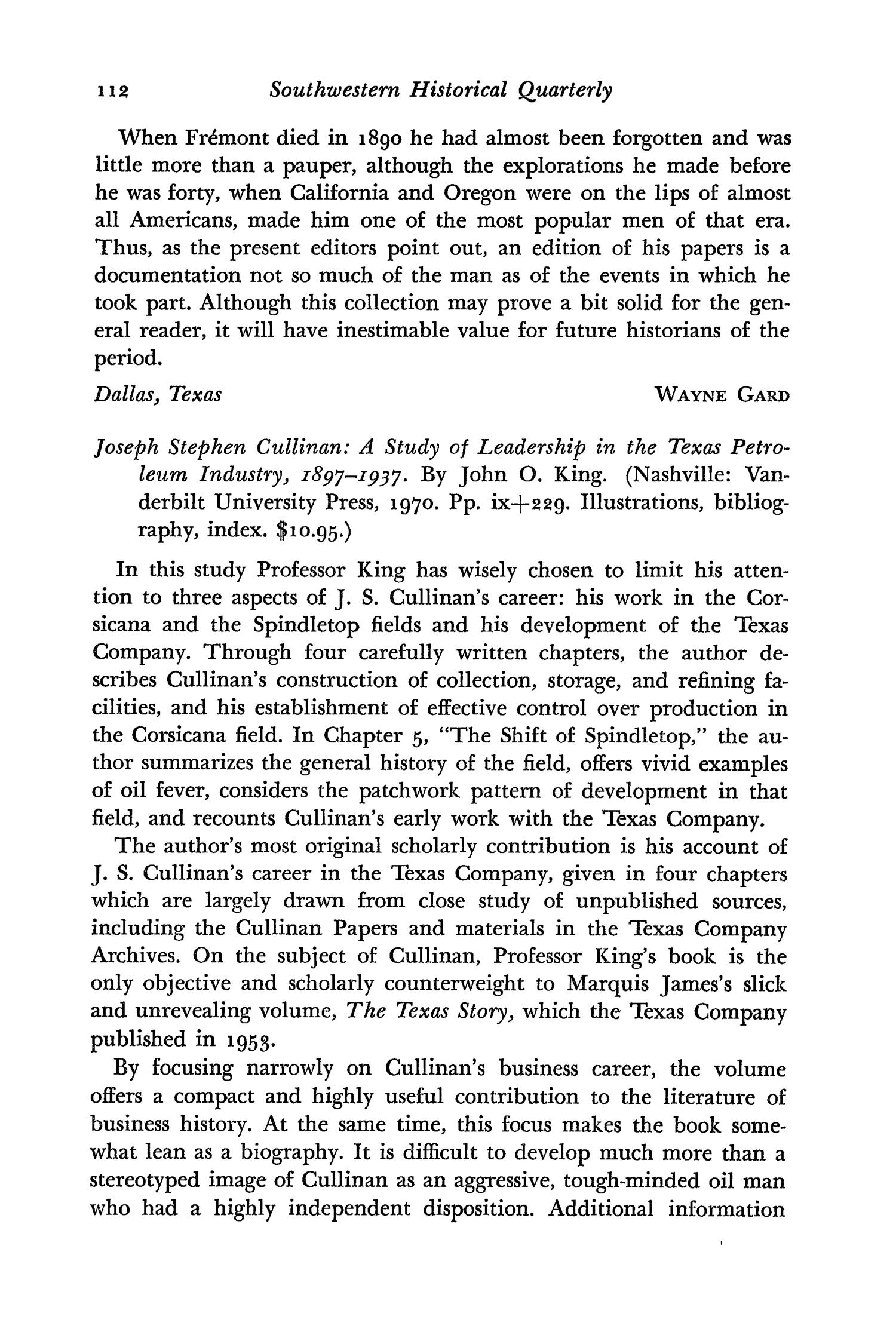 The Southwestern Historical Quarterly, Volume 75, July 1971 - April, 1972                                                                                                      112