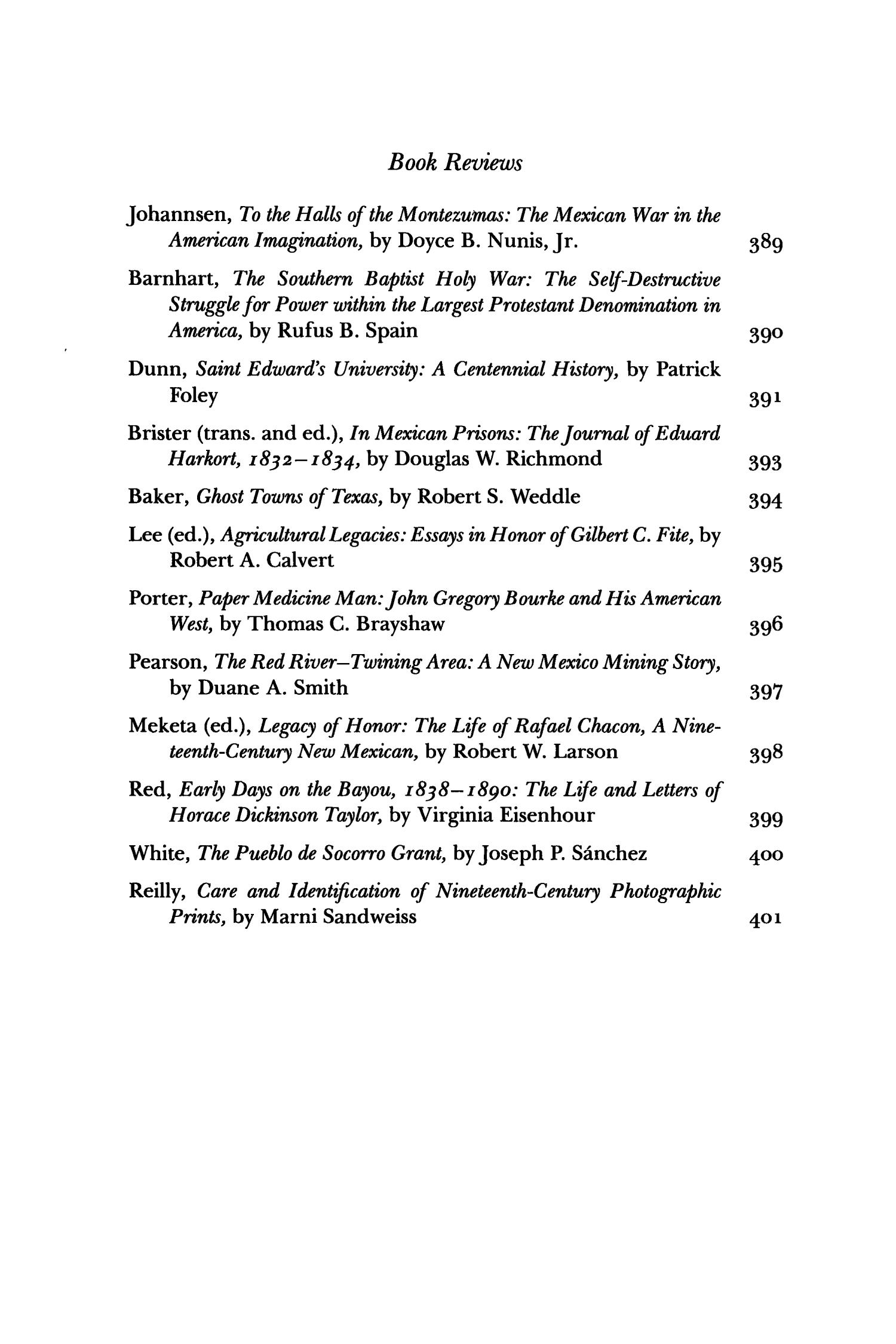 The Southwestern Historical Quarterly, Volume 91, July 1987 - April, 1988                                                                                                      None