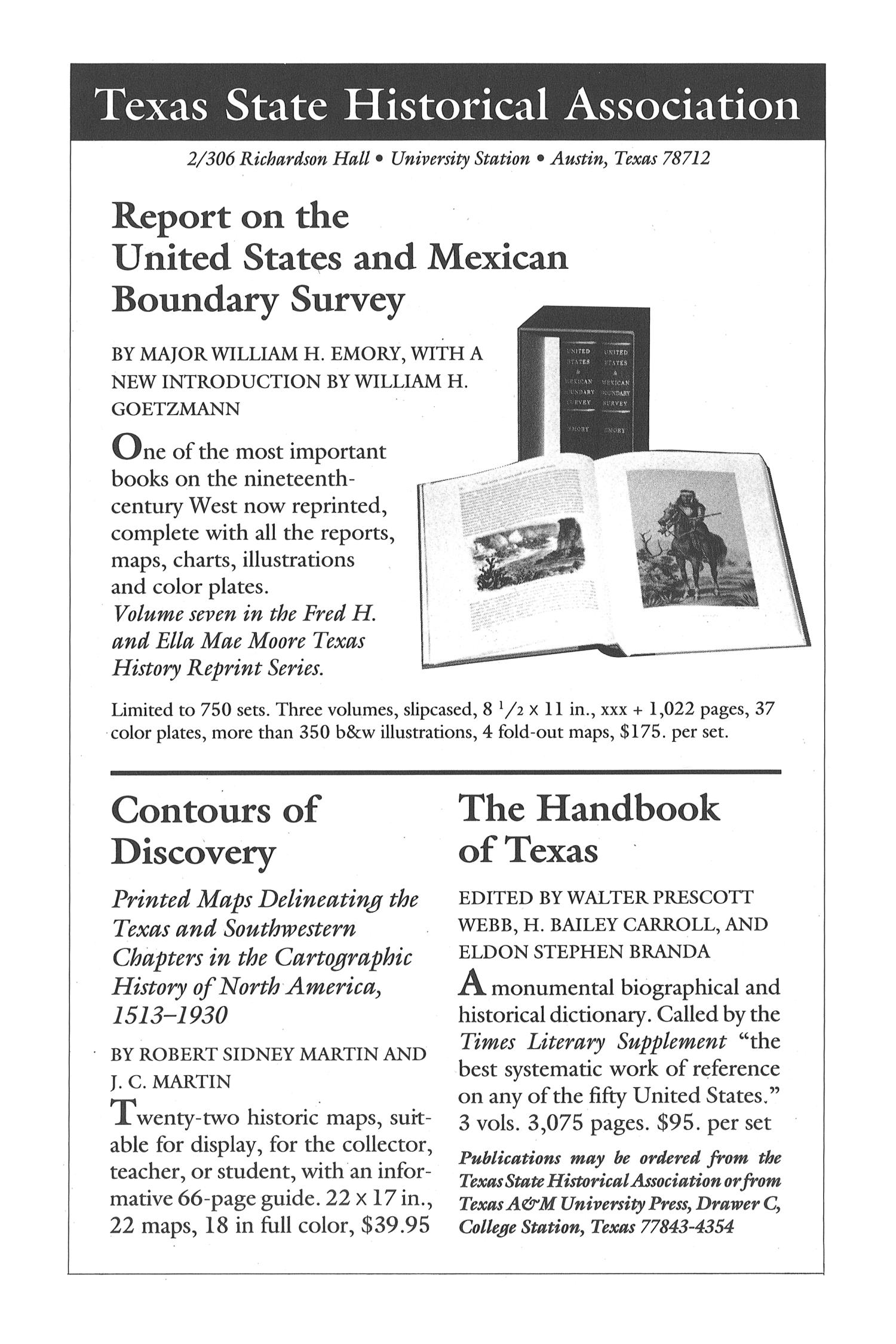 The Southwestern Historical Quarterly, Volume 96, July 1992 - April, 1993                                                                                                      None