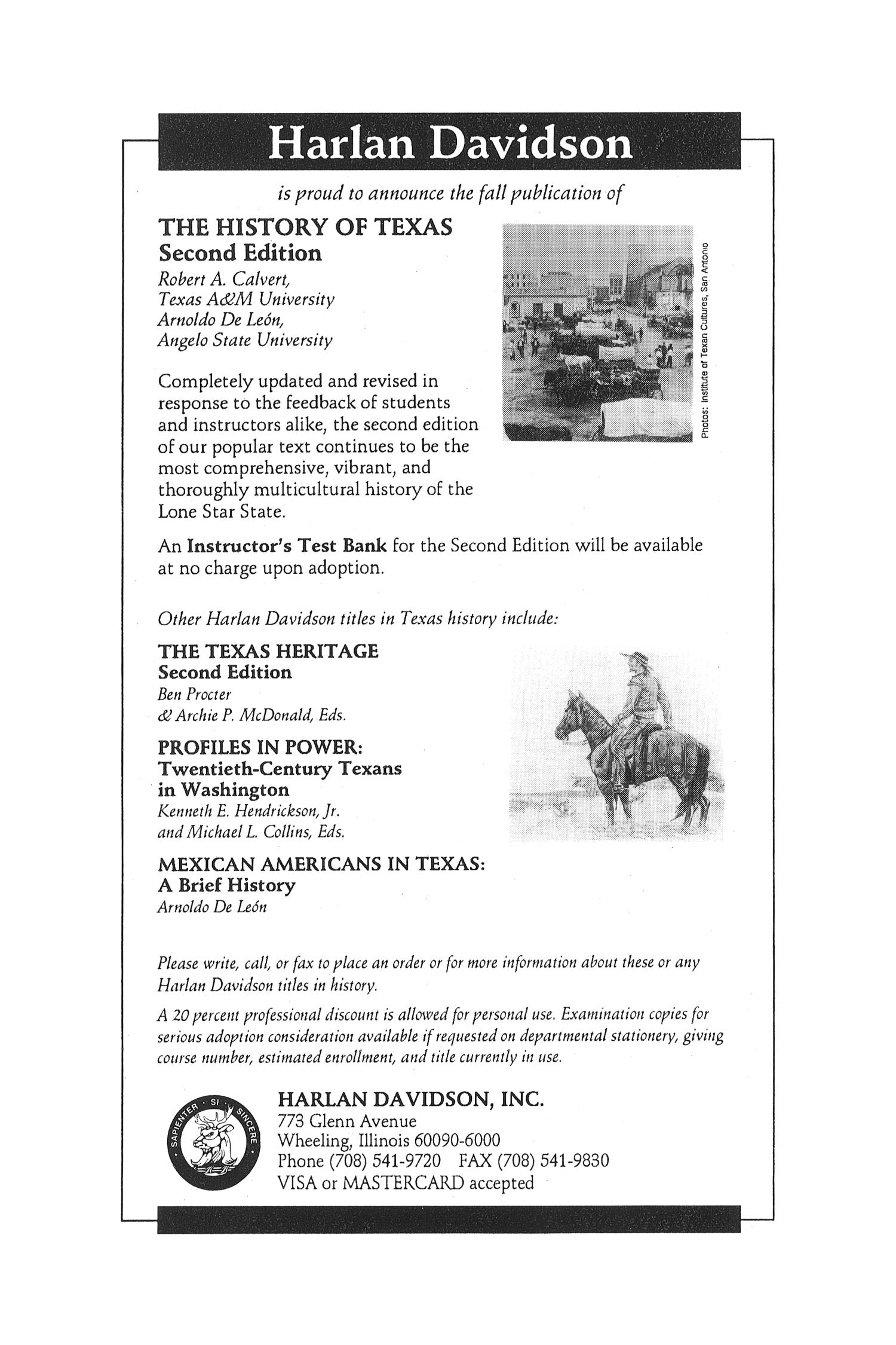 The Southwestern Historical Quarterly, Volume 99, July 1995 - April, 1996                                                                                                      None