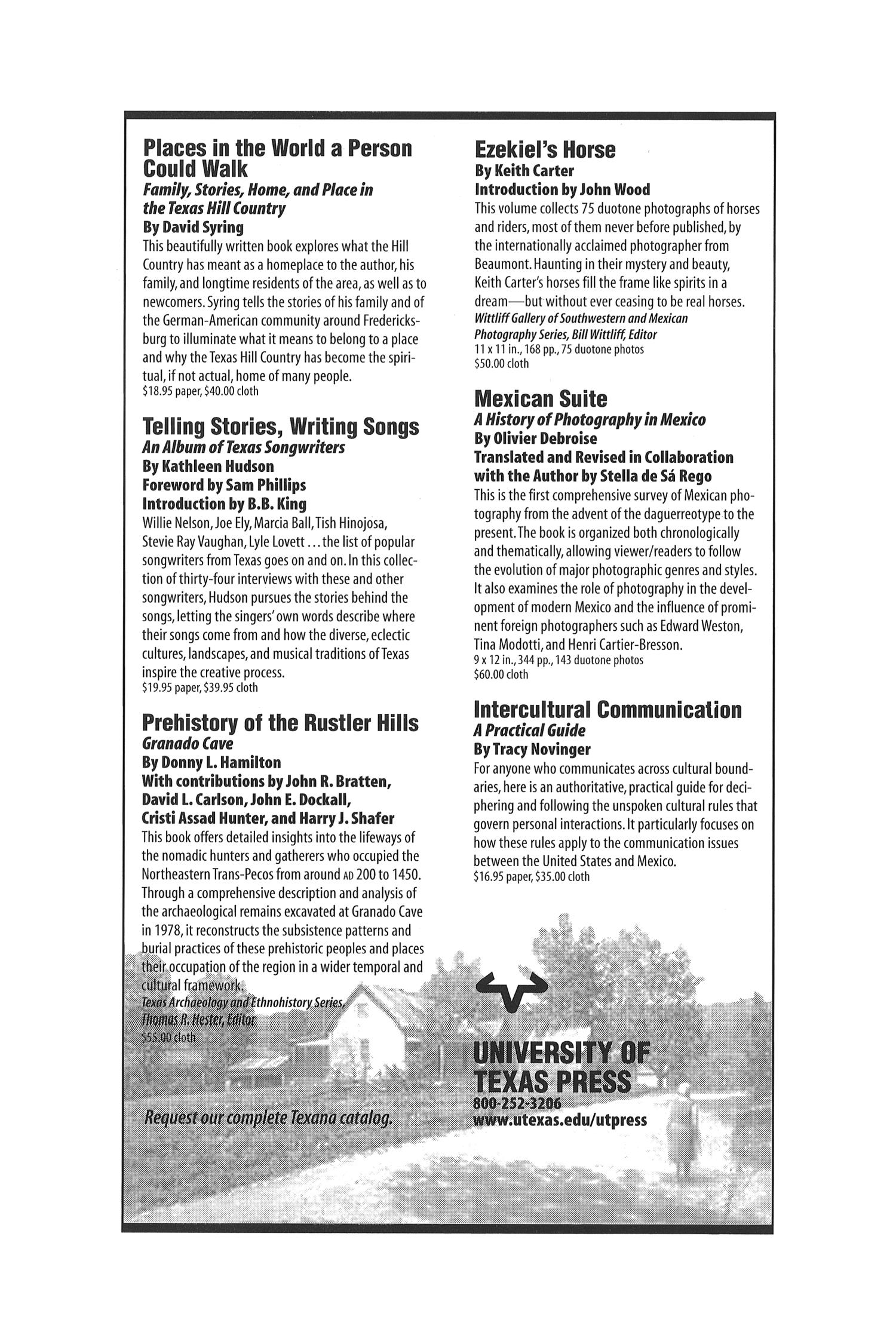 The Southwestern Historical Quarterly, Volume 104, July 2000 - April, 2001                                                                                                      None