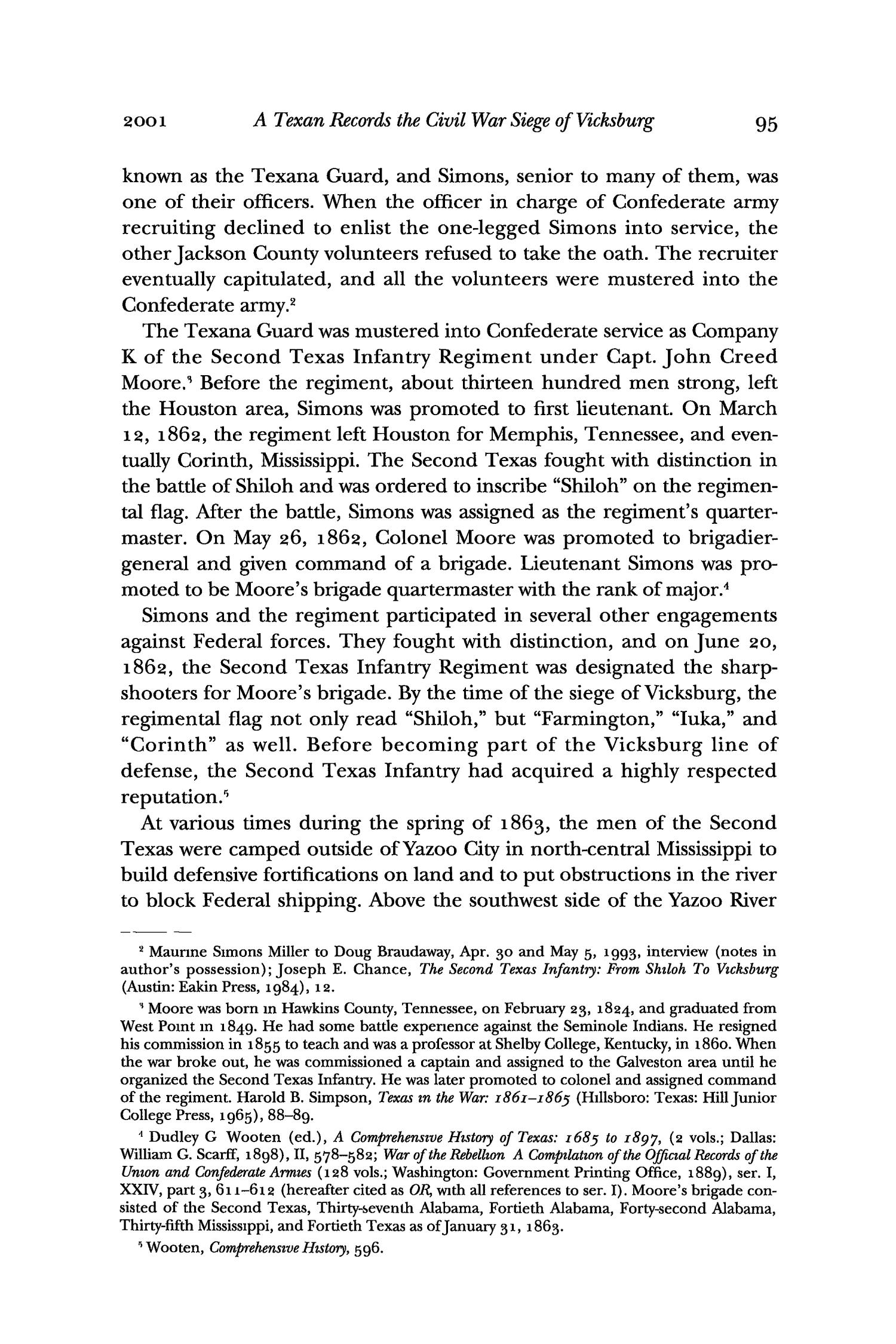 The Southwestern Historical Quarterly, Volume 105, July 2001 - April, 2002                                                                                                      95