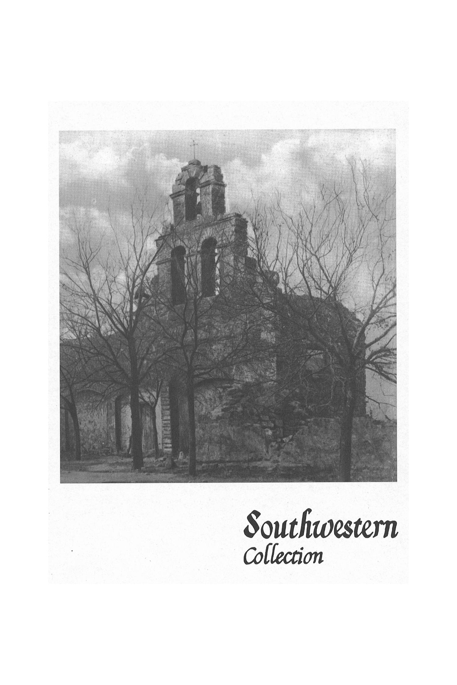 The Southwestern Historical Quarterly, Volume 106, July 2002 - April, 2003                                                                                                      443