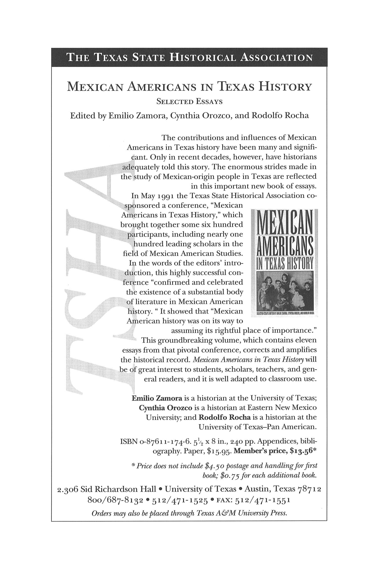 The Southwestern Historical Quarterly, Volume 106, July 2002 - April, 2003                                                                                                      55
