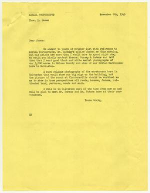 Primary view of object titled '[Letter from D. W. Kempner to Thos. L. James, November 8, 1949]'.