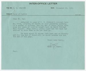 Primary view of object titled 'Letter from Thos. L. James to D. W. Kempner, November 29, 1949'.
