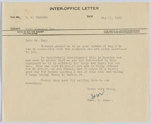 Primary view of object titled '[Letter from Thos. L. James to D. W. Kempner, May 11, 1951]'.