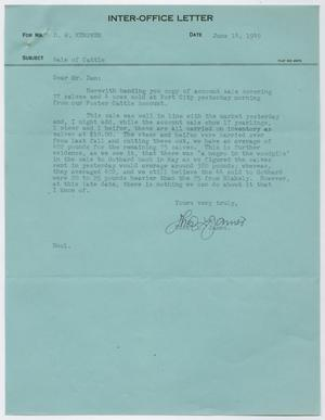 Letter from Thos. L. James to D. W. Kempner, June 14, 1949