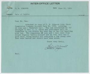 Primary view of object titled '[Letter from Thos. L. James to D. W. Kempner, June 22, 1949]'.