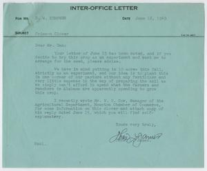Primary view of object titled '[Letter from Thos. L. James to D. W. Kempner, June 16, 1949]'.