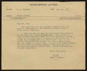 Primary view of object titled '[Letter from Thos. L. James to D. W. Kempner, June 23, 1950]'.