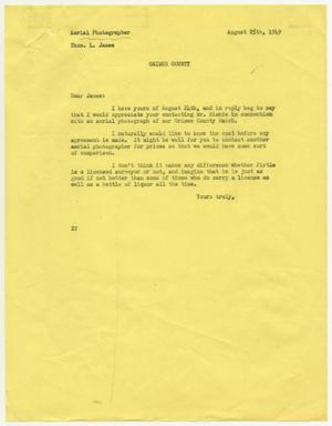 Primary view of object titled '[Letter from D. W. Kempner to Thos. L. James, August 25, 1949]'.