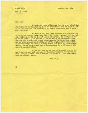 Letter from D. W. Kempner to Thos. L. James, December 3, 1949